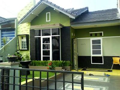 Perpaduan Warna Cat Hijau Tampilan Depan Rumah Minimalis Yang Menarik 2