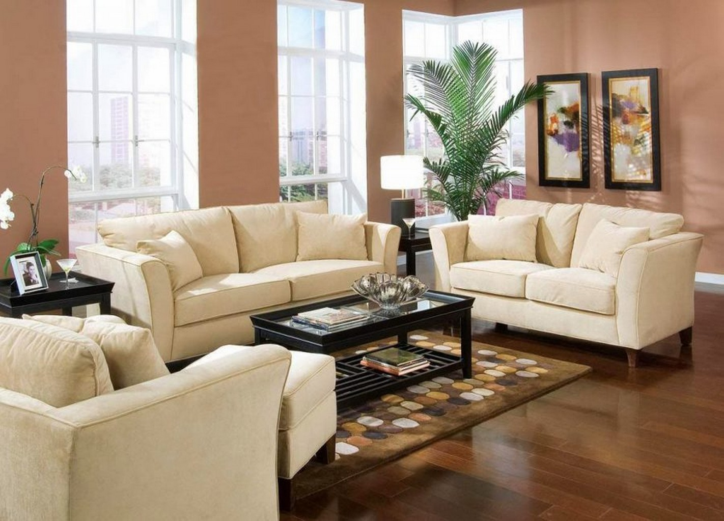 Small living room furniture ideas felish home project for Living room ideas with 3 sofas
