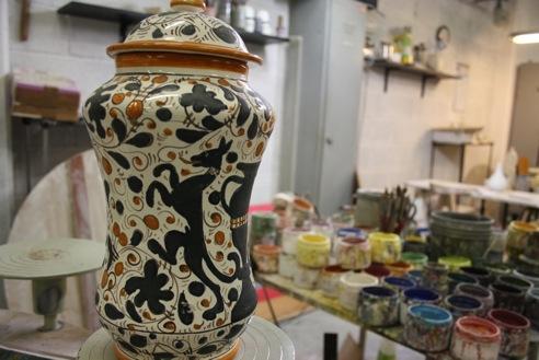 Italian Handmade Pottery Vase