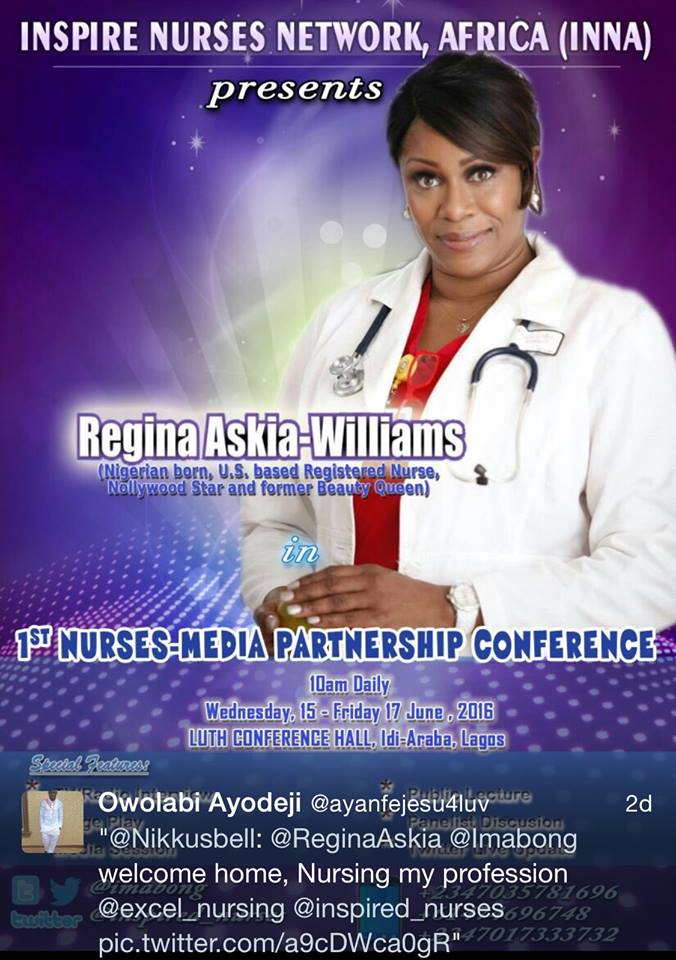 regina askia speak nurse conference lagos