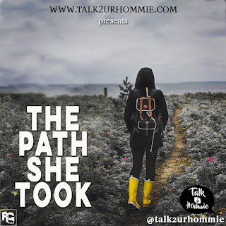 A picture describing a lonely path that a young lady had to take to live.