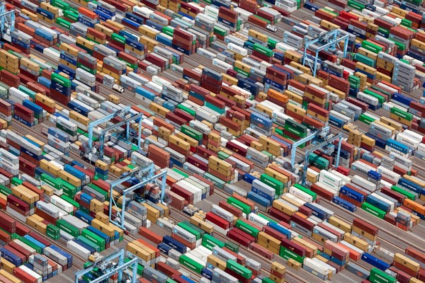 7.) Rows upon rows of colorful shipping containers hold so many things that are key to our daily lives in Portsmouth, Virginia. - You Think You Know What The World Looks Like. Then You Look At It Like This And… WHOA. Amazing.