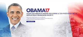 Thousands sign for Barack Obama to run for President of France