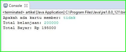 Program Java - Penjualan Barang di Toko Menggunakan Looping IF-Else