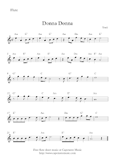 Donna Donna - Free flute sheet music
