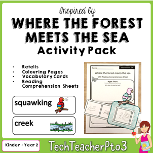 How to use QAR questions to explore a written text using reading comprehension strategies with question and response activities in English language arts. Where the forest meets the sea by Jeannie Baker