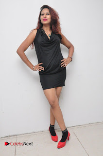 Model Sonia Pictures in Black Dress at Yes Mart Event  0039