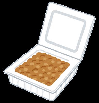 パック入りの納豆のイラスト