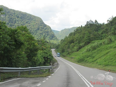 The region is quite mountainous with winding roads like this