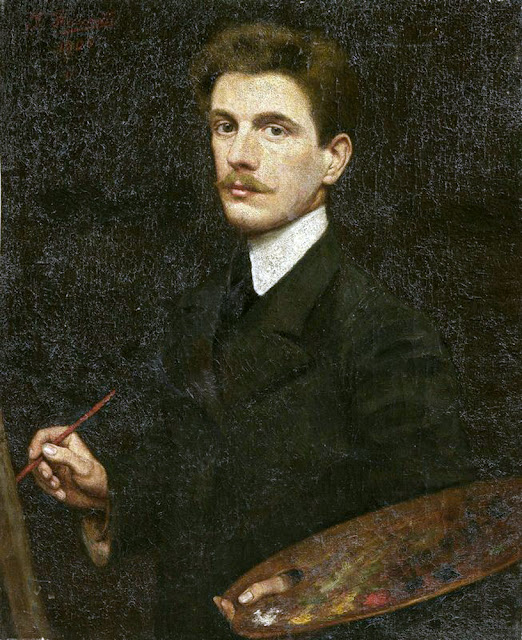Giuseppe Fraschetti Firenze, Self Portrait, Portraits of Painters, Fine arts, portraits of painters blog, Giuseppe Fraschetti, Paintings of Giuseppe Fraschetti, Painter Giuseppe Fraschetti