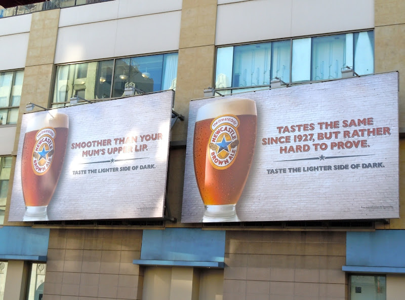 Newcastle Brown Ale billboards