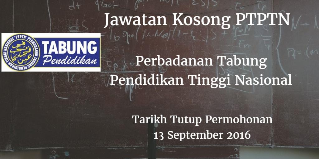 Jawatan Kosong PTPTN 13 September 2016