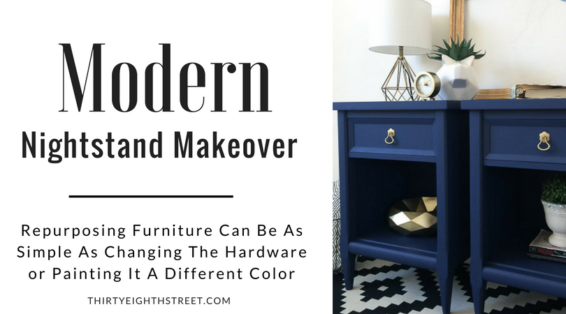 painted furniture, painted nightstands, modern furniture, painting furniture, blue furniture, nightstand ideas, diy furniture