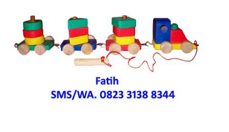 Mainan Edukatif Sederhana Shape Train