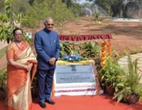 In Telangana, President Inaugurates Rock Garden