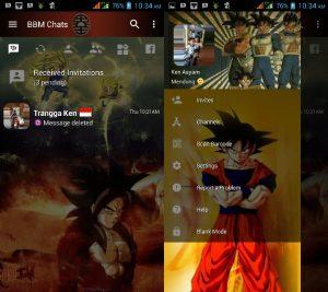 BBM MOD Tema Dragon Ball Z v3.3.0.16 APK Versi Terbaru