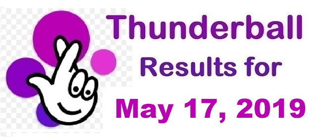 Thunderball results for Friday, May 17, 2019