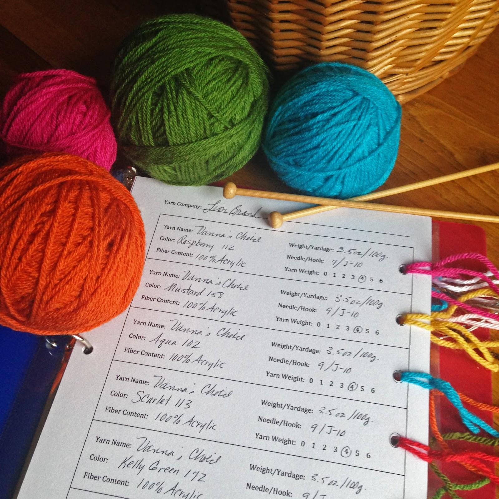 Kbb Crafts Amp Stitches Printable Yarn Organizer Cards