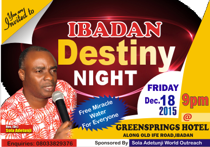 Ibadan Destiny Night