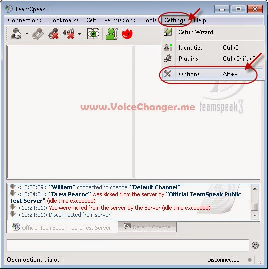 screenshot of using voice changer in teamspeak - step 2.1 - microphone settings