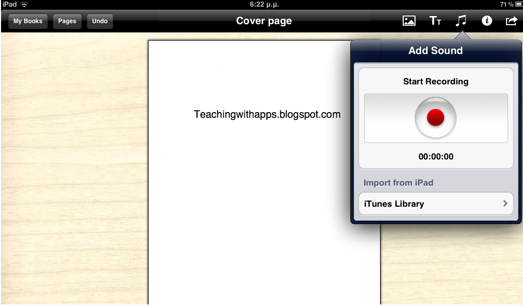 Teaching with Apps: Creare your own textbook for ibooks from