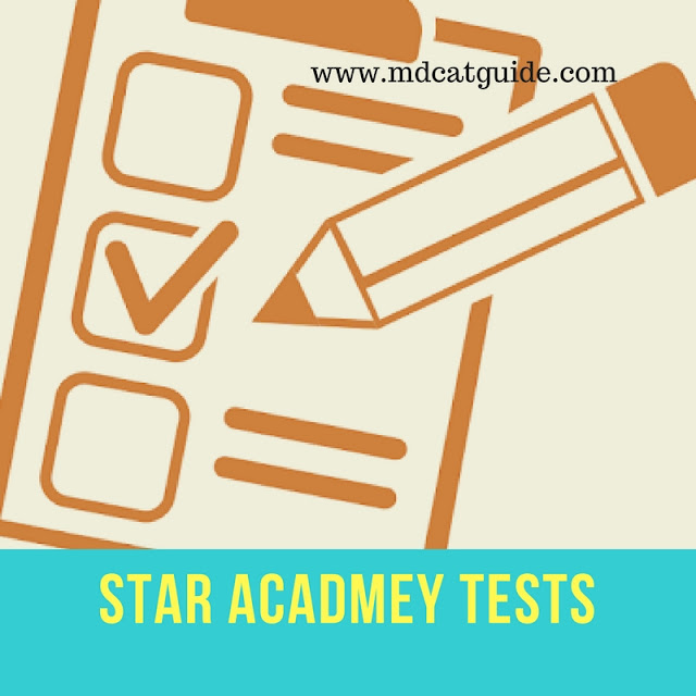 star academy tests fot mdcat practice