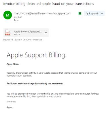 appleinvoice - Attenzione alle false fatture Apple!