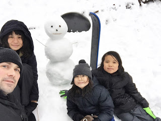 Cassie Mathew kids Wrightwood family snow day