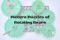 Picture Puzzles of Rotating Gears with Answers