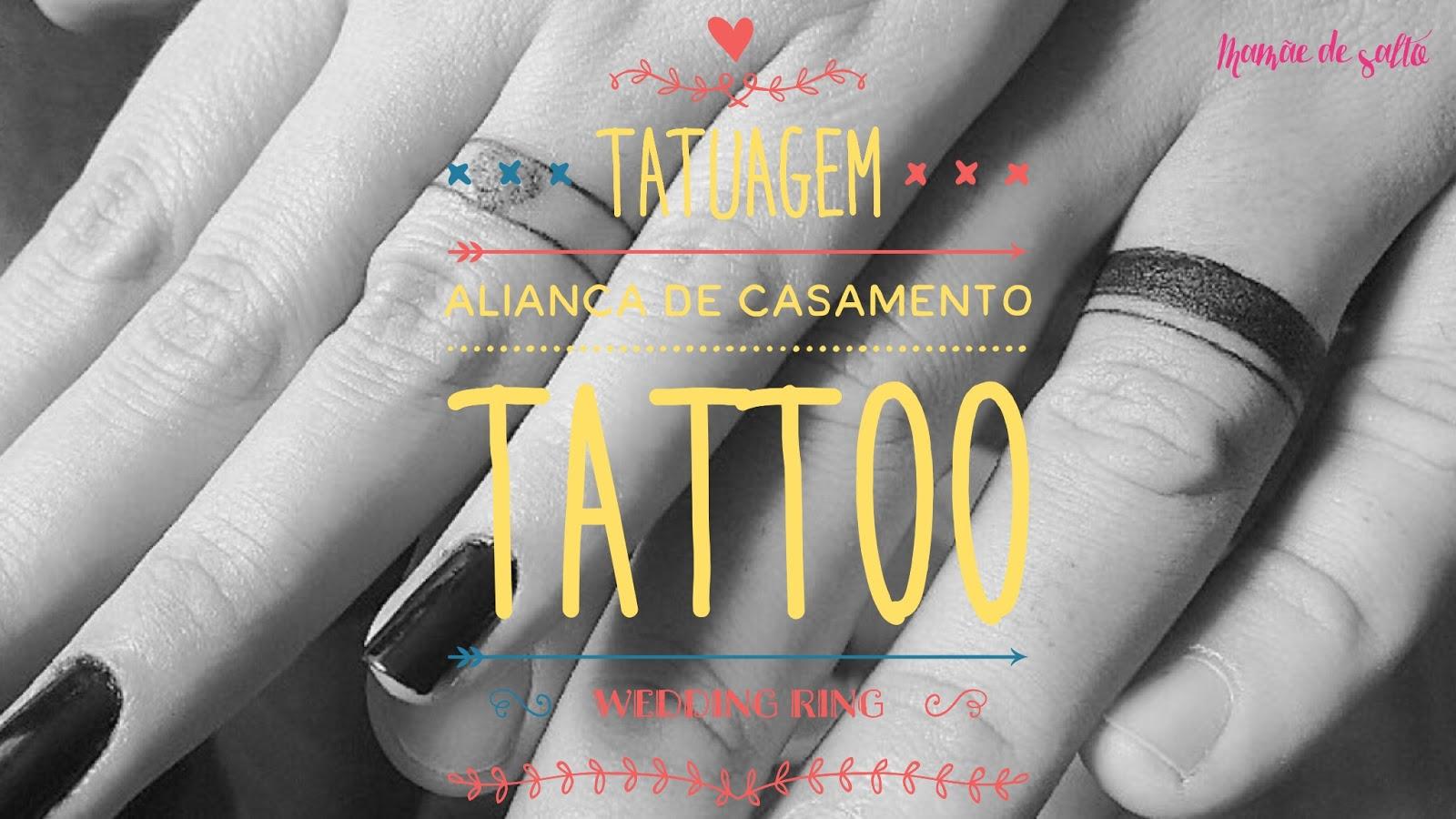 tatuagem aliança de casamento / tattoo wedding ring ... blog Mamãe de Salto