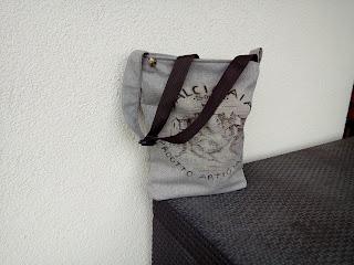 ręcznie malowana i szyta torebki na zamówieniepłótno worek gruby splot