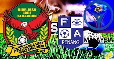 Live Streaming Pulau Pinang vs Kedah Liga Super 22 Julai 2017