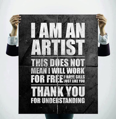 Artists should be paid - incredible opinions