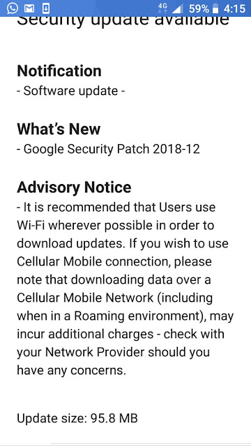 Nokia 5 receiving december 2018 android security patch