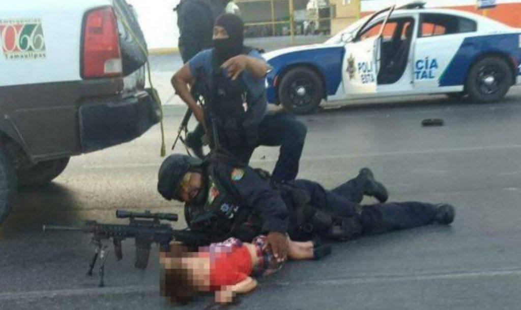 FOTOS: POLICÍA PROTEGE CON SU CUERPO A NIÑO DURANTE BALACERA EN REYNOSA