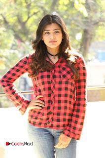 Actress Hebah Patel Stills in Blue Denim Jeans at Nanna Nenu Naa Boyfriends Movie Success Meet  0040.JPG