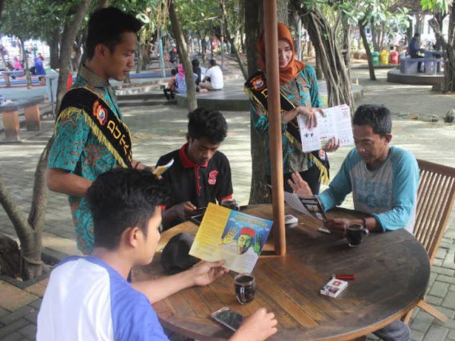 Polda Maluku Utara Gelar Sosialisasi Anti Hoax di Taman Nukila