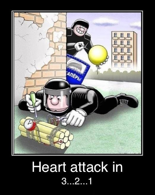 Funny Bomb Disposal Joke Cartoon