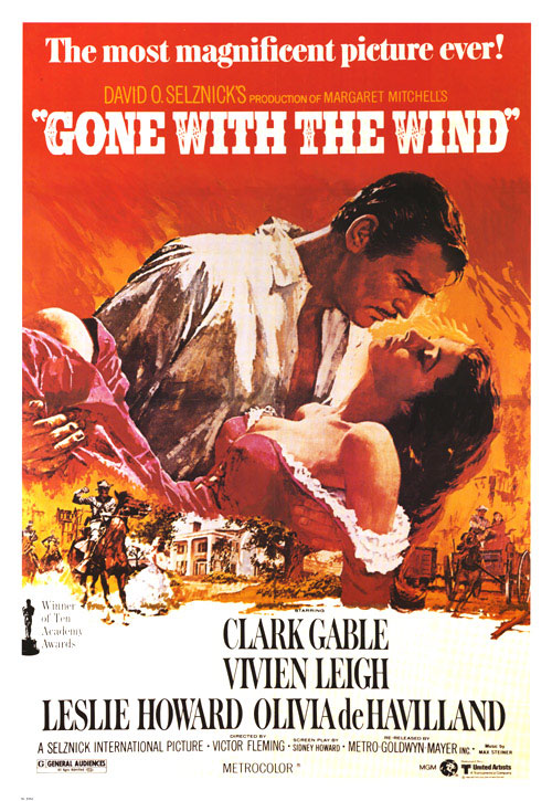 Original poster Gone with the Wind movieloversreviews.filminspector.com