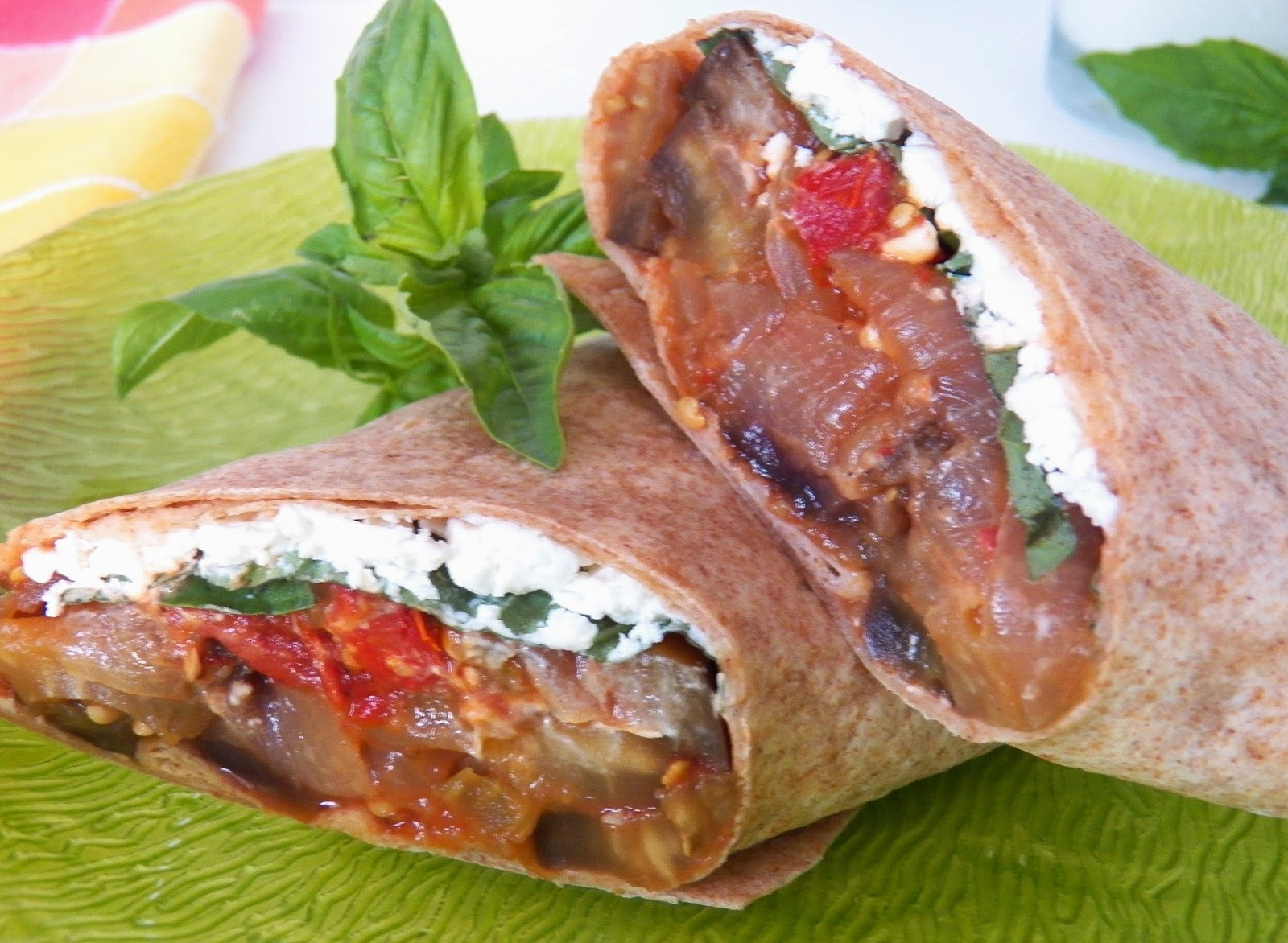 Eggplant Caponata with Goat Cheese Wrap