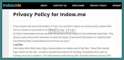 cara membuat privacy policy blog