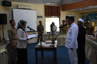 Bupati Lampung Timur Lantik Pejabat Kepala Desa Marga Mulya
