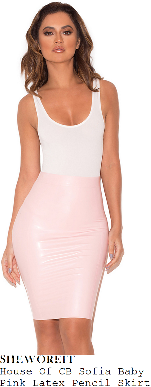 lauren-pope-house-of-cb-sofia-pale-baby-pink-high-waisted-exposed-zip-detail-bodycon-latex-pencil-skirt