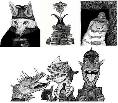 Ejemplos de ilustraciones de La ciudad de los libros soñadores