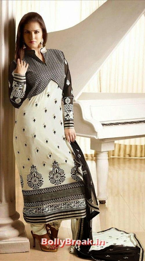 , Sunny Leone Anarkali Churidar Pics, Sunny Leone in Indian Clothes