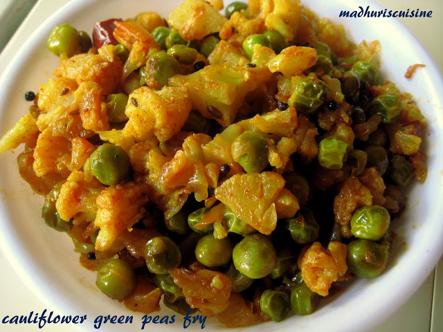 Cauliflower peas Fry