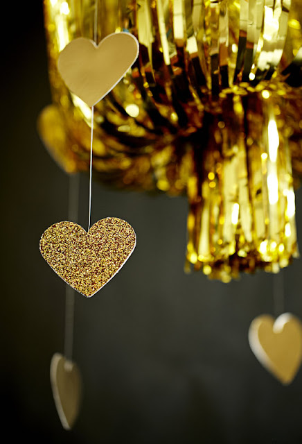 Gold Fringe Chandelier Diy Party Decoration