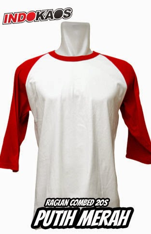 Raglan Putih Merah