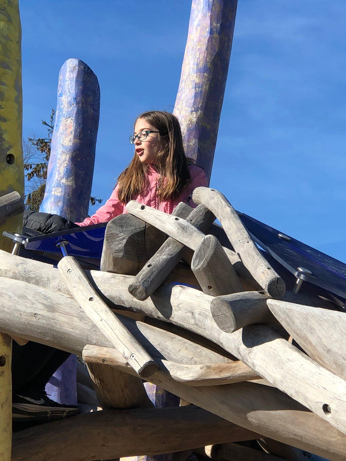 Dorothea auf dem Dietmar-Hopp-Spielplatz in Meckesheim