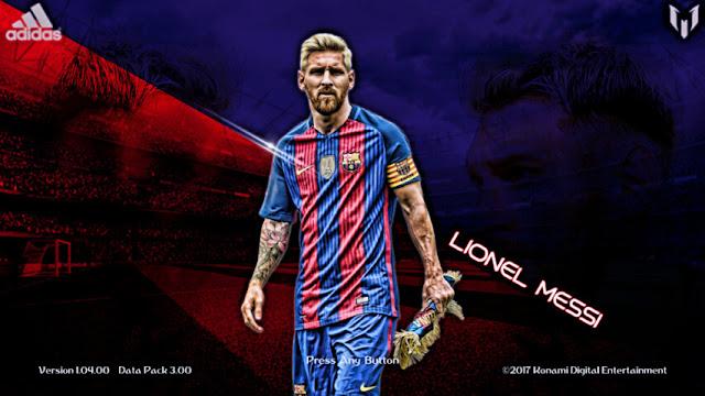 Lionel Messi Start Screen PES 2018